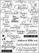 Clear Stamps Words