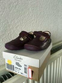 New leather Clarks shoes