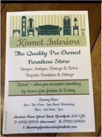 Quality pre owned vintage furniture shop now open