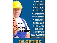 from plastering to patio, fence work to flooring, decking to decorating. plus much more call us 1st
