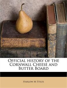 Book - History of the cornwall cheese and butter board