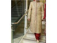 Men's wedding shirwani