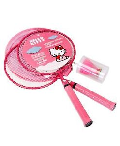 Hello Kitty Kids Badminton Rackets Pair sets with shuttlecock