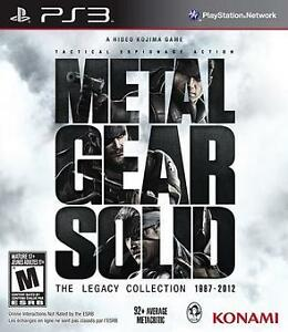 I'm looking for Metal Gear Solid Legacy collection PS3