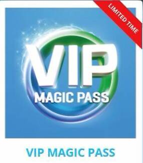 Gold Coast 3 theme parks unused tickets for $95