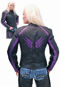 Leather Reflective Motorcycle Jacket and Chaps