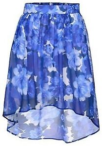 High-low floral printed skirt (Brand New)