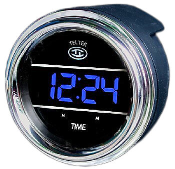Clock Blue TelTek Truck Gauge Peterbilt Freightliner International Western Star