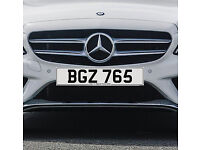 BGZ 765 – Price Includes DVLA Fees – Others Available - Cherished Personal Registration Number Plate