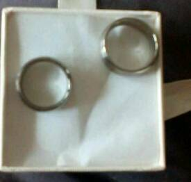 Wedding rings set R and N