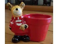 mini reindeer flower pot