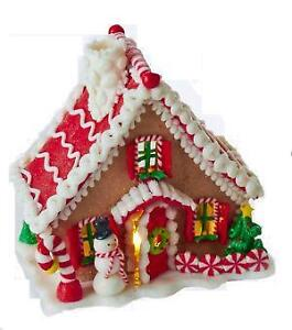lighted gingerbread house - Gingerbread House Christmas Decorations