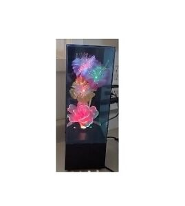 Fiber Optic Color Changing Flower Light with Music Box