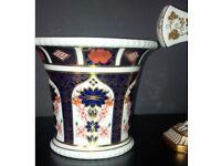 Rare Retired Royal Crown Derby Old Imari 1128 Jardinar Vase - 1st -