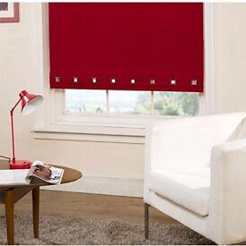 Brand New Red Roller Blind