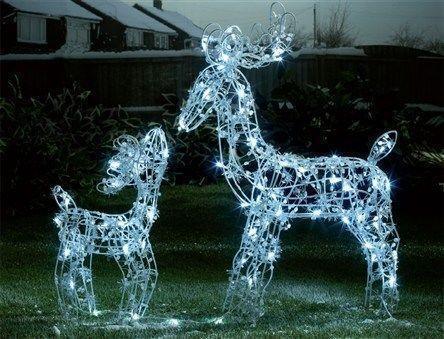 Outdoor Light Up Reindeer Ebay