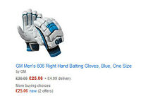 GM Cricket Pads and Gloves