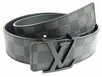 Black Louis Vuitton Belt (LV Belt)