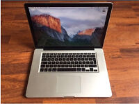 MacBook Pro 15 mid 2010, 2.4ghz Intel i5 processor 6gb RAM 500gb HDD