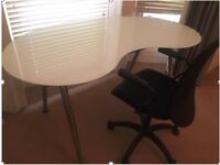 IKEA Glass adjustable desks and Chair