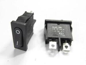 12x on off mini rocker switch 6a 220v black 12v b95 diy. Black Bedroom Furniture Sets. Home Design Ideas