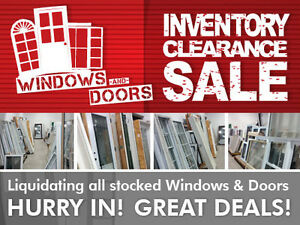 Windows and Doors Inventory Clearance SALE !