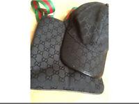 Gucci bag and cap