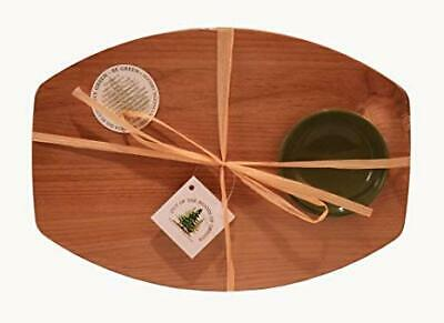 Out of the Woods of Oregon BREAD & OIL Red Alder Hardwood Board & Green Bowl NEW Red Alder Wood Bowl