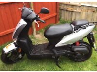 Moped. Kymco agility 50cc. Average speed 40 mph. 4 years old. 3100 miles. 3 previous owners.