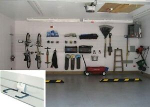 PVC Slat Wall organizers for garage walls or storage rooms