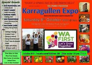 Karragullen Expo Saturday 8th October 2016 9 am to 4 pm Karragullen Armadale Area Preview