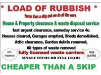 House hold & business rubbish removals cheaper than a skip waste disposal