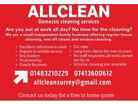 Professional Domestic Cleaning Couple. Excellent references/rates/reliability.est 1999. Woking area.