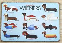 "8 x 12 inches ""Wonderful Wieners"" Dachshund Tin Wall Sign"