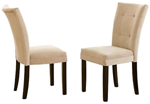 Steve Silver MT200BE Matinee Parsons Chairs (Set of 2), Beige