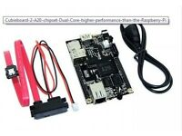 Cubieboard 2 A20 chipset Dual Core = high performance + usb charger new!