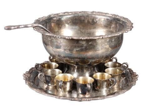 Silver Plated Punch Bowl Ebay