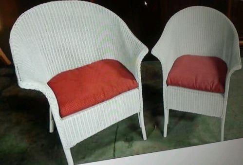 White Wicker Chair Ebay