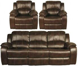 NEW 3 1 1 CHOCOLATE BROWN LEATHER AIR
