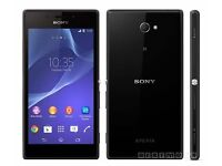 Sony Xperia M2 smartphone, black, in immaculate condition £90