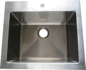 "LAUNDRY SINK STAINLESS STEEL 24"" x 25"" x 12deep"