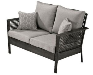 looking for a resin wicker outdoor loveseat bench to match
