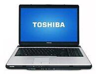 toshiba L300 dual core laptop running windows 10 pro £50 minehead