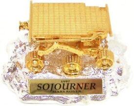 Gold Plated 24k Gold & Silver Collectors Edition NASA JPL SOJOURNER Mars Rover Model & COA