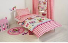 Toddler duvet cover and curtains set