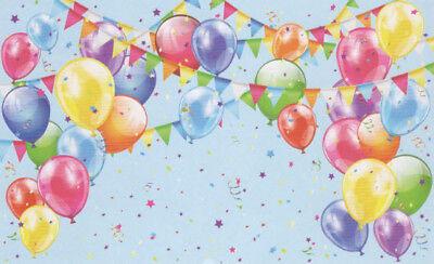 Balloons Photo (BALLOONS Banner photo backdrop BIRTHDAY party wall decor Scene Setter)