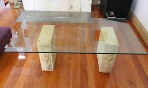 Glass and sandstone cooffe table Willoughby Willoughby Area Preview