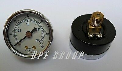 New Air Pressure Gauge Air Compressor Hydraulic 1.5face 0-30 Back Mnt 18npt
