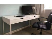 Ikea Desk with Hidden Cable Management