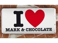 I heart personalised chocolate